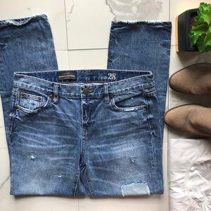 J. Crew Broken in Boyfriend Jeans with Patches